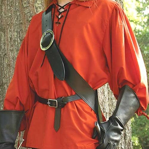 Viking And Roman Right Handed European Baldric - Black For Sword