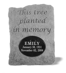 This Tree Planted...W/ Marble Insert Memorial Pet Stone