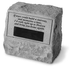 Headstone-If Tears Could Build... Memorial Pet Stone