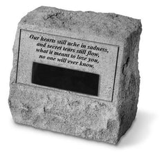 Headstone-Our Hearts Still Ache... Memorial Pet Stone