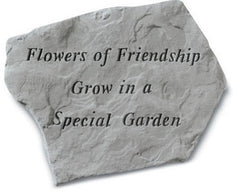 Flowers Of Friendship Grow In A Special Memorial Garden Stone