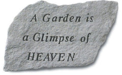 A Garden Is A Glimpse Of Heaven Memorial Garden Stone - xoticbrands