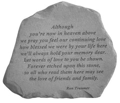 Although you're now… Memorial Garden Stone Décor