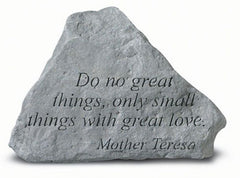 Do No Great Things Inspirational Garden Stone