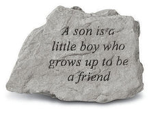 A Son Is A Little Boy Who Grows Up... Memorial Garden Stone - xoticbrands