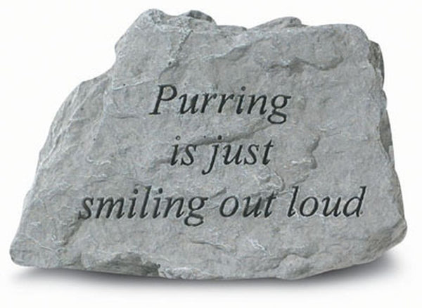 Purring Is Just Smiling Out Loud. Memorial Pet Stone