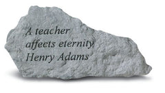 A Teacher Affects Eternity Memorial Garden Stone - xoticbrands