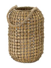 "Candle Holder 13""H Wicker/Metal"