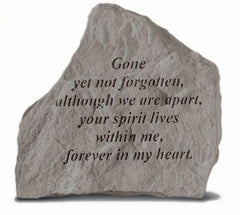 Gone Yet Not Forgotten... Memorial Pet Stone