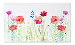 "Floral Watercolor 31.5"" x 19""H MDF"