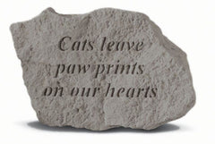 Cats Leave Paw Prints On Our Hearts Memorial Pet Stone - xoticbrands