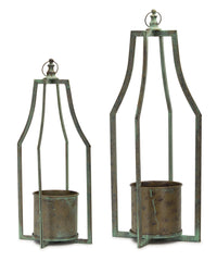 "Candle Holder (Set of 2) 25""H, 31""H Iron"
