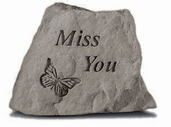 Miss You - w/butterfly Memorial and Inspirational Stone