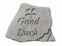 Good Luck W/ Clover Inspirational Garden Stone