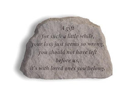 A Gift For Such A Little While... Memorial Garden Stone - xoticbrands