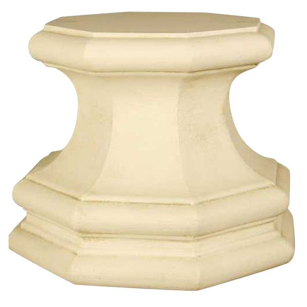 "XoticBrands Eight Sided Base 16 - Architectural   Small Pedestals -18""H"