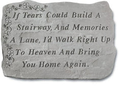 Shamrock - If Tears Could Build... Memorial Pet Stone