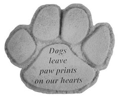 Dogs Leave Paw Prints... Memorial Pet Stone