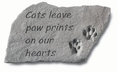 Cats Leave Pawprints Memorial Pet Stone - xoticbrands