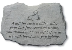 A Gift For Such A Little... w/Lamb Memorial Garden Stone - xoticbrands