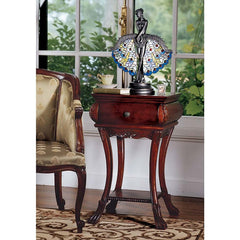 Solid Hard-wood Antique Replica French Hourglass Side Table