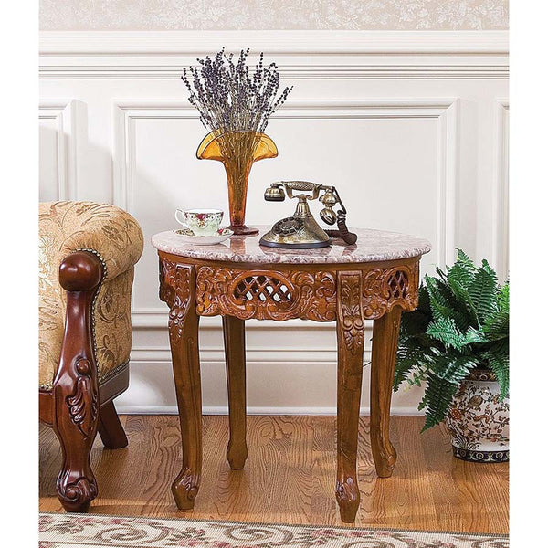 CHANTRET MARBLE TOPPED SIDE TABLE