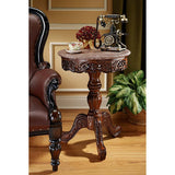 CHANTRET MARBLE TOPPED PEDESTAL TABLE