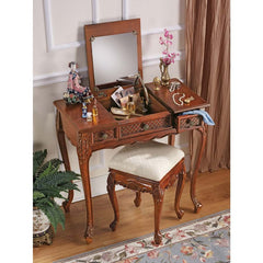 "31"" Hand-carved Hardwood Vanity Dressing Table"