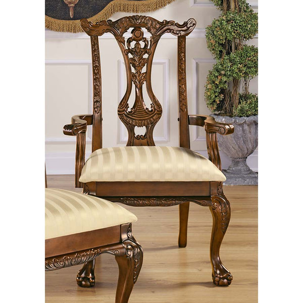 CUPIDS BOW CHIPPENDALE ARMCHAIR