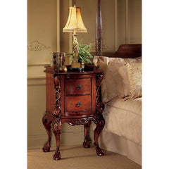 17th Century French Rococo Handcarved Mahogany Antique Replica Bedside Nights...