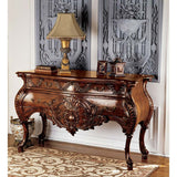 18th Century French Hand-carved Solid Mahogany Signature European Style