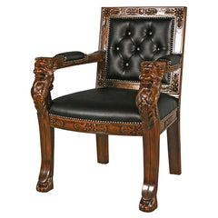 BEARDSLEY FAUX LEATHER LION CHAIR