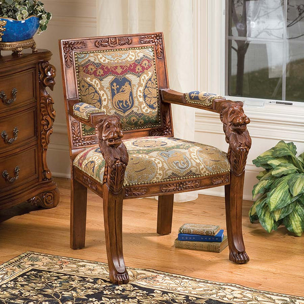 BEARDSLEY LION ARMCHAIR - CHARLES FABRIC