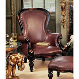 Fashionable Victorian Rococo Faux Wing Chair