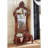 Victorian Hand Carved Solid Mahogany Antique Replica Dressing Standing Full L...