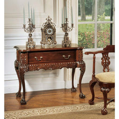 HandCarved Solid Mahogany Antique Replica Console Table
