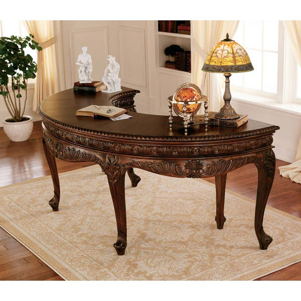 "31"" 18th-century Antique Replica French Furniture Solid Mahogany Executive Ho..."