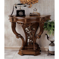 "30"" Hand-carved solid hardwood Antique Replica French Console Table"