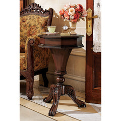 PEMBROKE OCTAGONAL HINGED SIDE TABLE