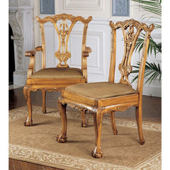 S/6 ENGLISH CHIPPENDALE CHAIRS