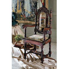 S/6 CHARLES II ARM CHAIRS
