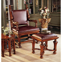 LORD CUMBERLANDS THRONE & FOOTSTOOL SET