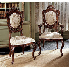 S/6 FRENCH ROCOCO CHAIRS