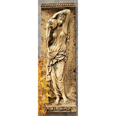 "22"" French Water Maiden Wall Sculpture Decor Frieze NR"