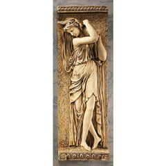 "22"" French Water Maiden Wall Sculpture Decor Frieze TR"
