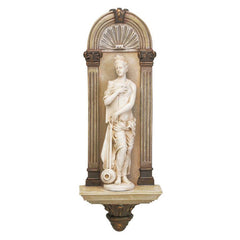 "18"" Classic French Water Nymph Maidens Wall Sculpture Statue"