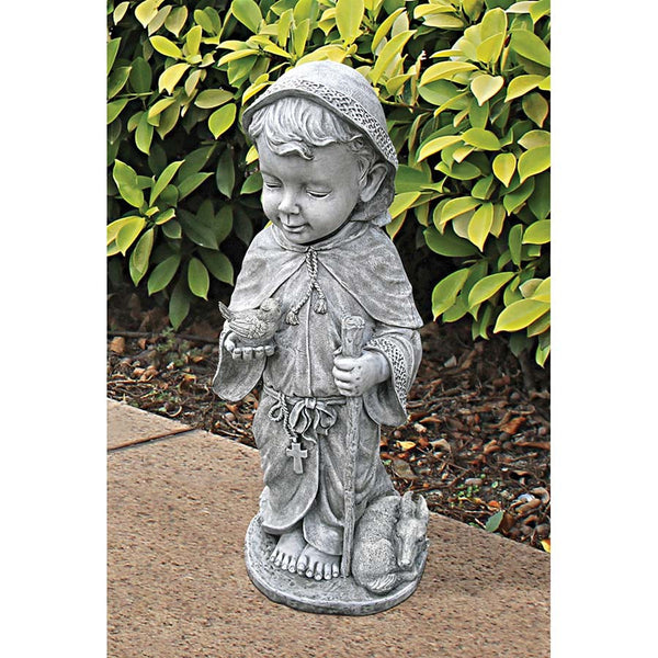 "24"" Baby Saint Francis Christian Catholic Sculpture Statue Figurine"