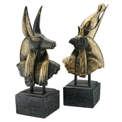 S/ HORUS AND ANUBIS BUSTS