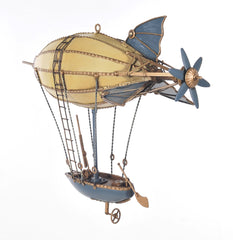 XoticBrands Decor Steampunk Airship Iron Vintage Model
