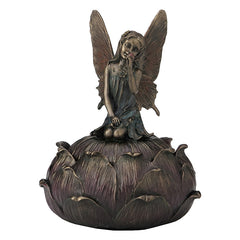 Trinket Box-Art Nouveau - Fairy Picking Flower - Myth & Legend.